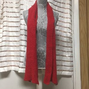 Accessories - Red Fuzzy Scarf